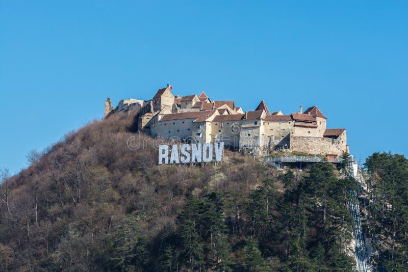 Cittadella di Rasnov, contea di Brasov, Romania fotografia stock libera da diritti