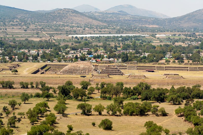 Cittadella di Teotihuacan fotografia stock libera da diritti