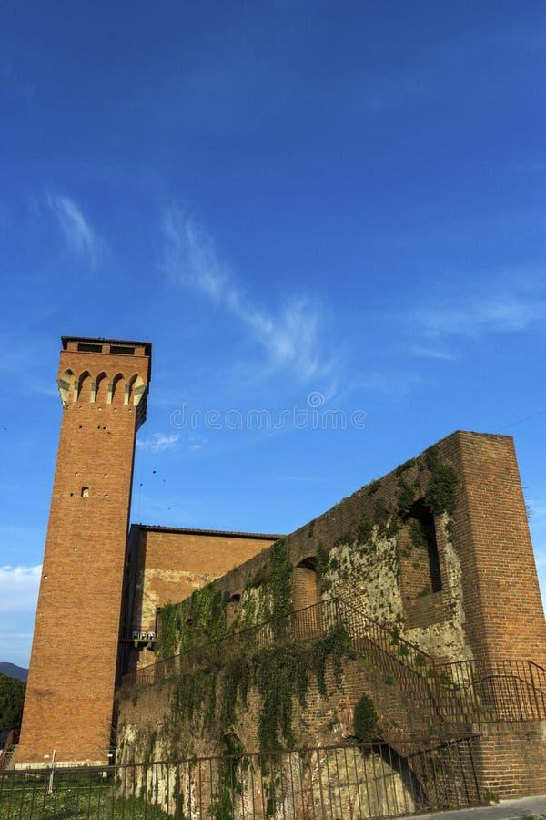 Cittadella Medicea со своим Torre Guelfa в Пизе в Италии стоковые изображения