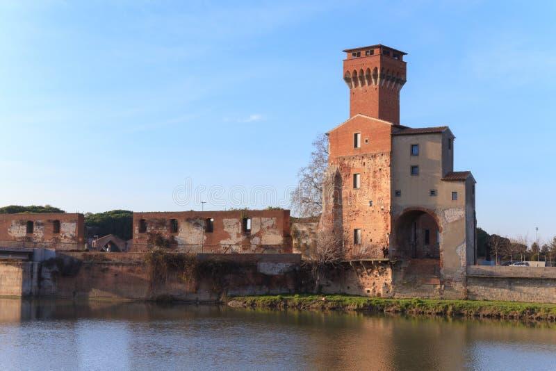 Cittadella Pisa, Italien arkivbild