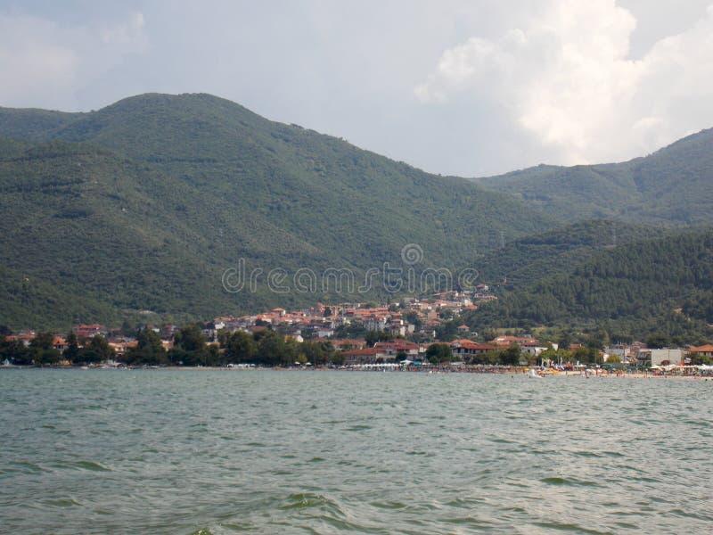 Cittadina di Stavros, Grecia immagini stock