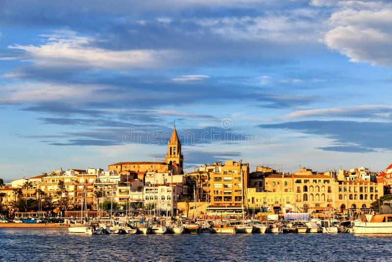 Cittadina piacevole in Spagna fotografia stock libera da diritti