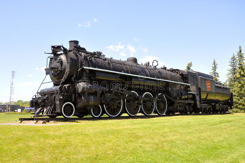 Cittadino canadese della locomotiva di vapore fotografie stock libere da diritti