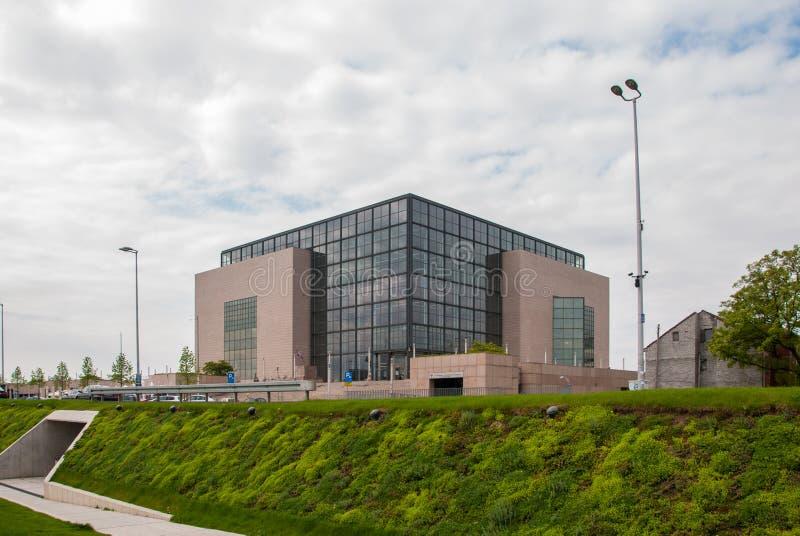 Cittadino e biblioteca universitaria a Zagabria fotografie stock libere da diritti