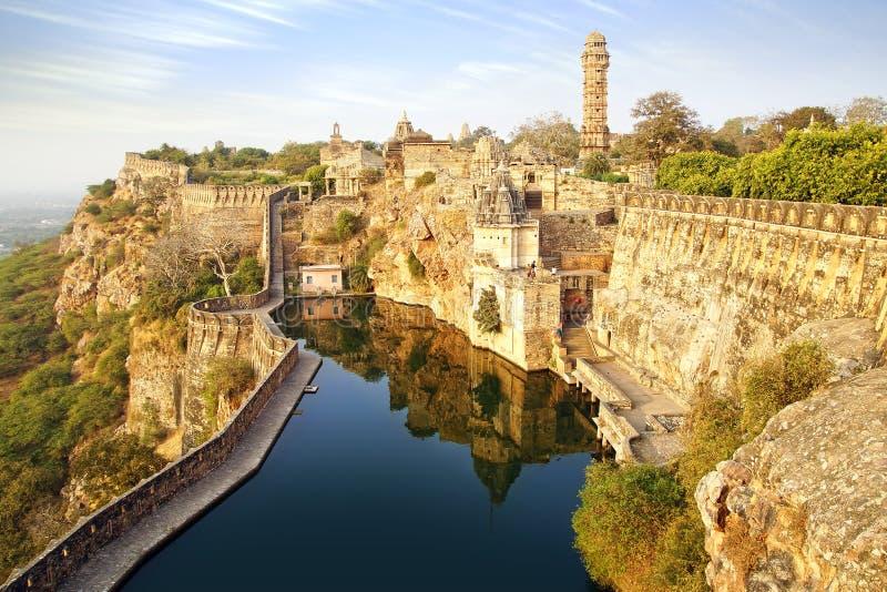 Cittorgarh堡垒,印度 免版税库存照片