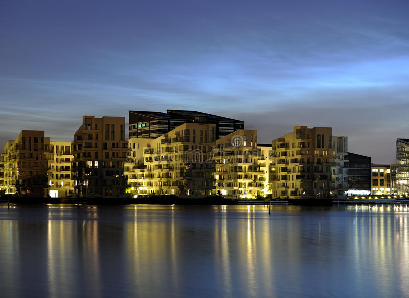 Download City at night stock image. Image of district, business - 20308467