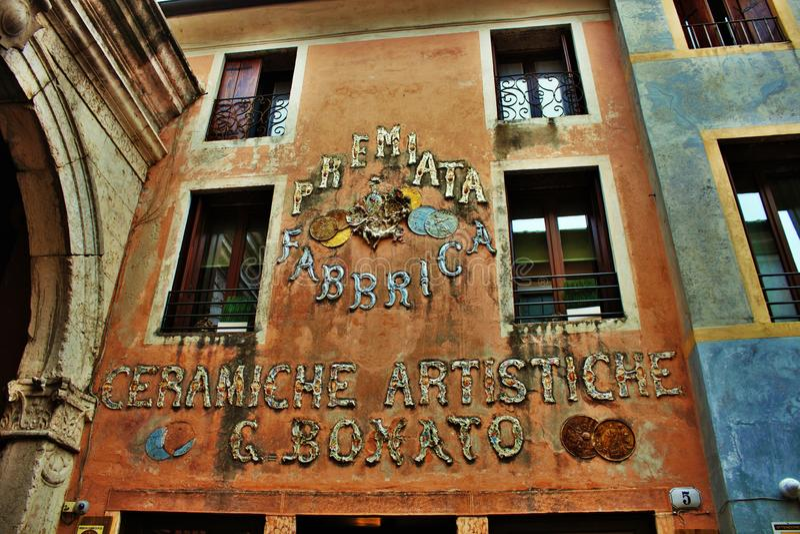 City of bassano del grappa royalty free stock photography