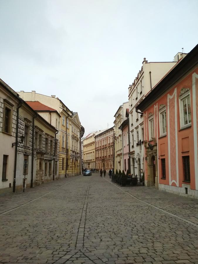 City ​​of Krakow. Poland The landscape of ancient streets, Catholic cathedrals and medieval fortresses. stock photos