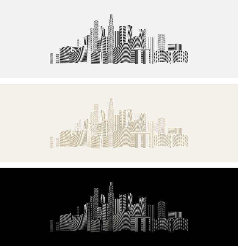 City& x27 εικονίδιο ή υπόβαθρο του s απεικόνιση αποθεμάτων