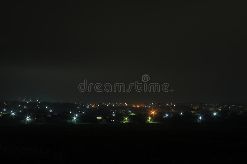 city in the night royalty free stock photos