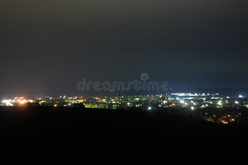 city ​​in the night stock photo