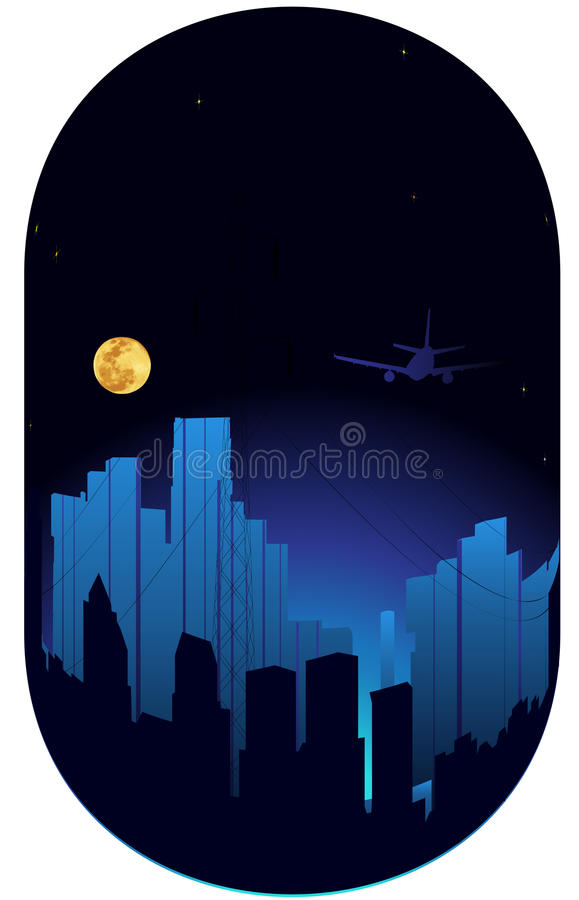 City. Vector illustration of night in the big city royalty free illustration