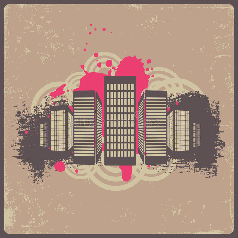 Download City stock vector. Illustration of image, line, dirty - 14186467