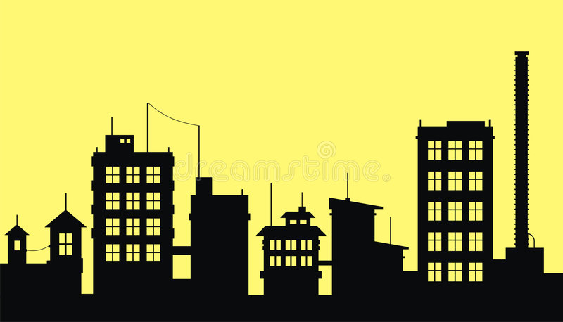 Download City 2 stock vector. Illustration of architecture, office - 3339396