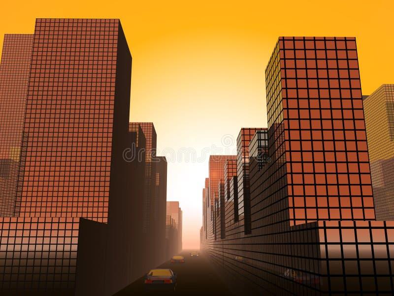 Download The City 20 stock illustration. Image of illumination, illuminate - 605485