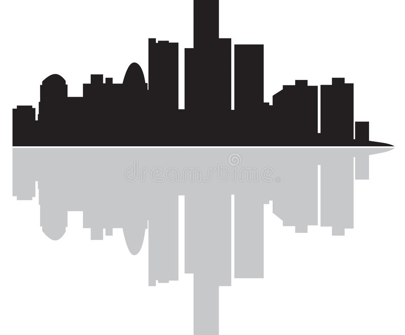 City. A Cities skyline as an illustration. Also in .ai file