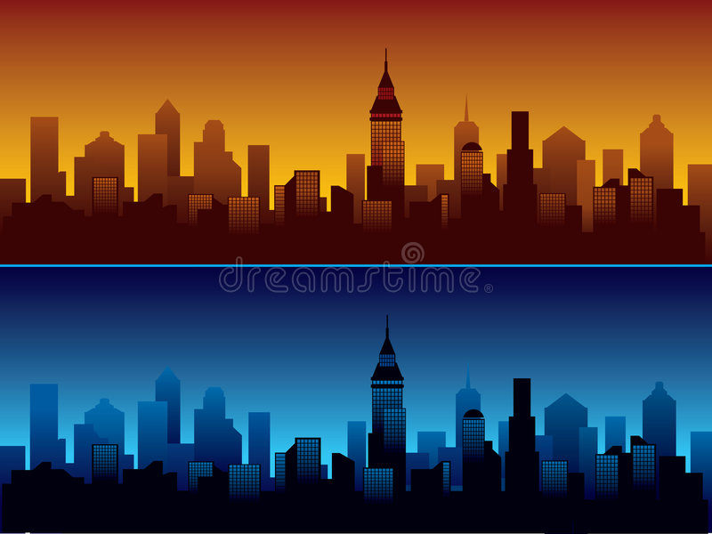 City royalty free illustration