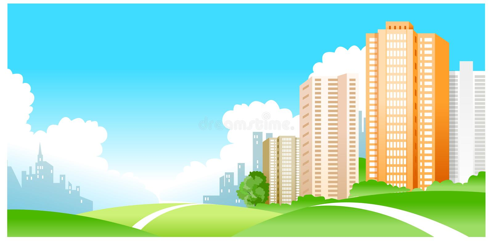 Download City stock vector. Image of green, graphics, clip, ecology - 26785454
