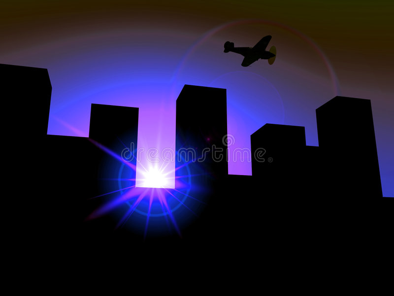 Download The City 3 stock illustration. Image of bright, city, building - 607882