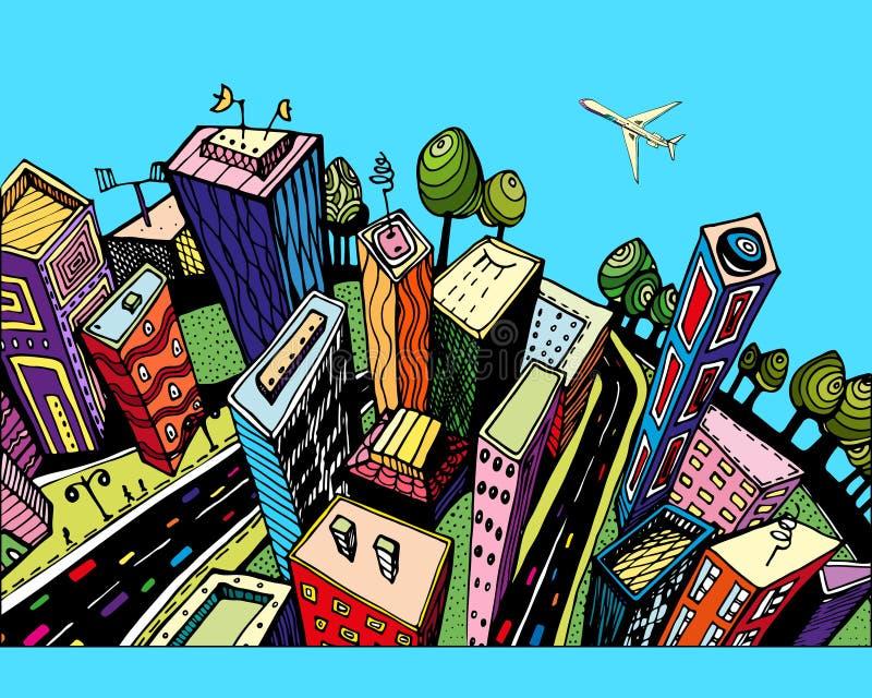 City3 ilustración del vector