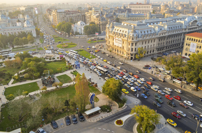Bucharest cityscape, Romania stock photography