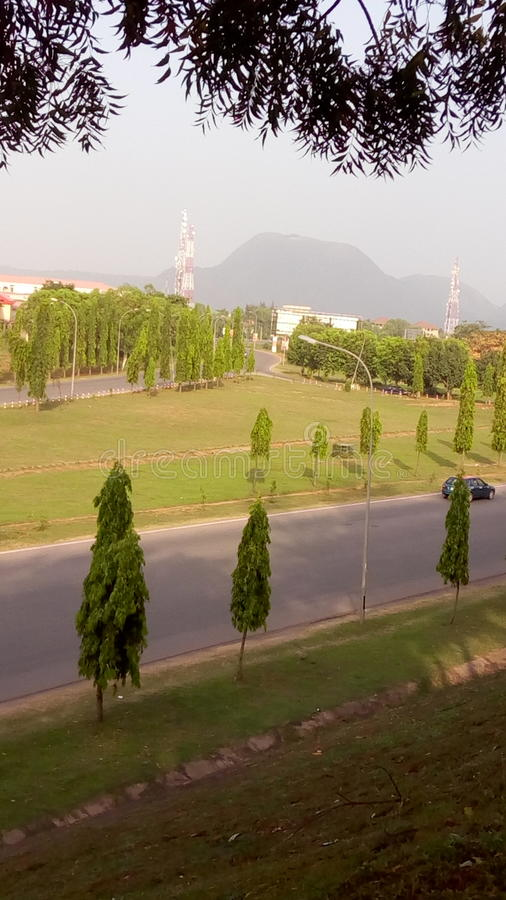 The city of Abuja royalty free stock photo