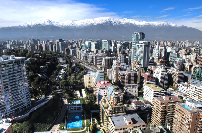 Download City aerial HDR view stock image. Image of chile, building - 25379565