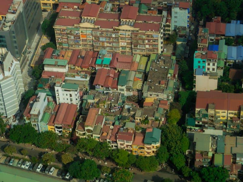 Hanoi, Vietnam. City aerial view of Hanoi, Vietnam royalty free stock photos