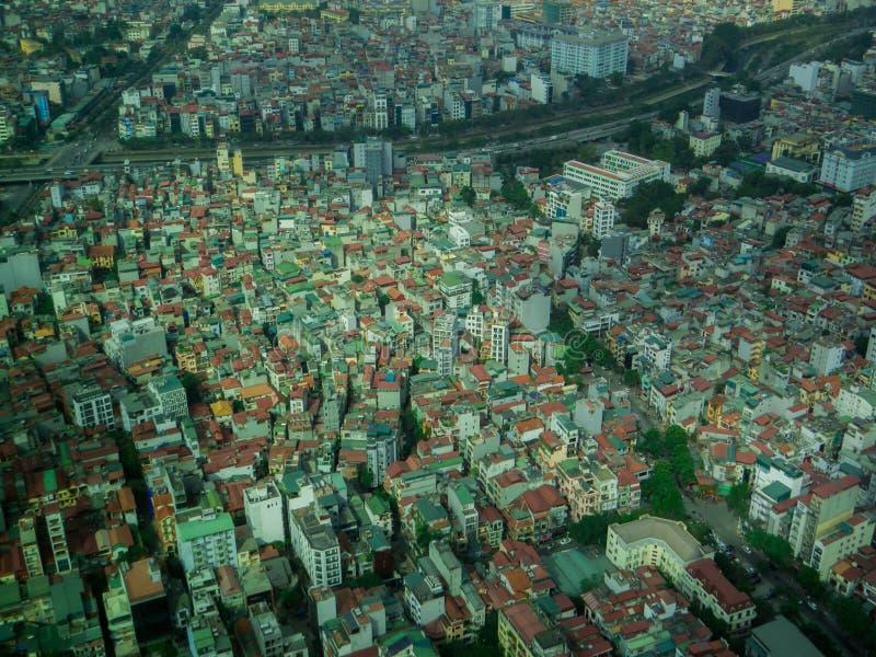 Hanoi, Vietnam. City aerial view of Hanoi, Vietnam stock images