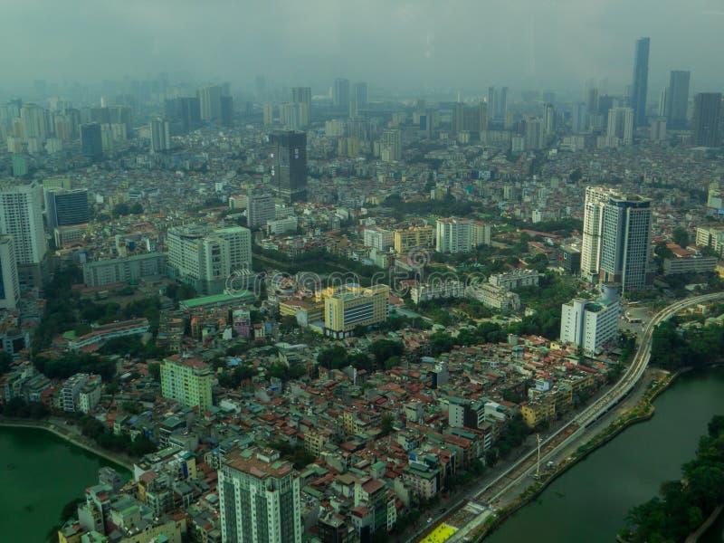 Hanoi, Vietnam. City aerial view of Hanoi, Vietnam royalty free stock photography