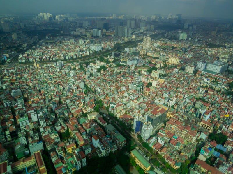 Hanoi, Vietnam. City aerial view of Hanoi, Vietnam stock photography