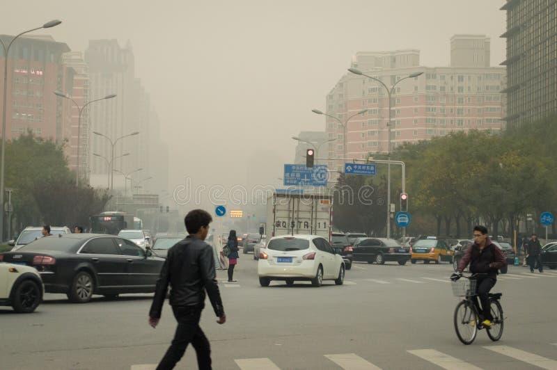 city air pollution stock photos