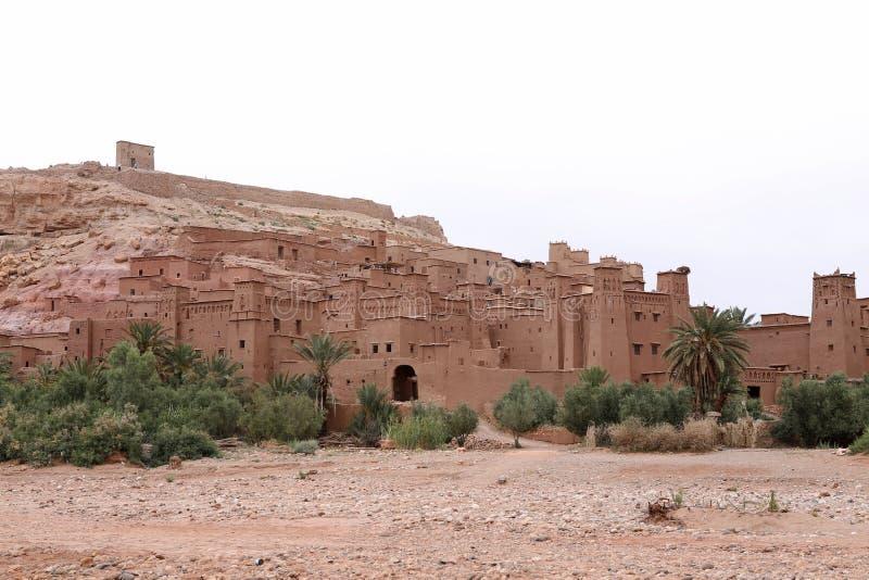 City of Ait Ben Haddou near Ouarzazate on Morocco royalty free stock photos