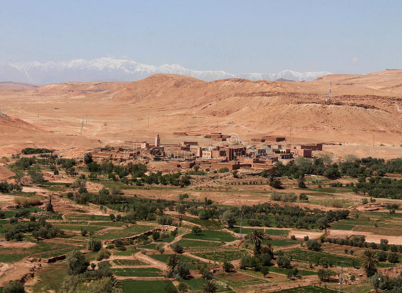 City Ait Benhaddou near Ouarzazate in Morocco royalty free stock photography