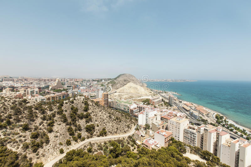 Download The City Of Alicante In Southern Spain Stock Image - Image of overlooking, castle: 32298047