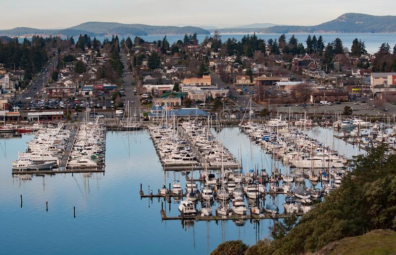 City of Anacortes Wa Aerial View royalty free stock photography