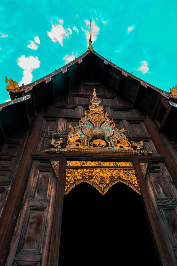 Bangkok Temple of Emerald Buddha - stock image