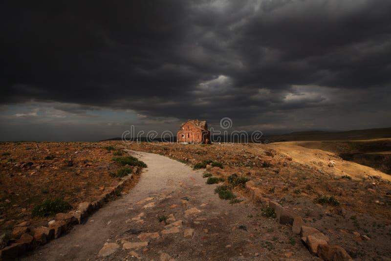 City of Ani, Ancient Ruins. City of Ani, Ruins, Ancient Capital of Armenian Kingdom. Modern Turkey royalty free stock photography