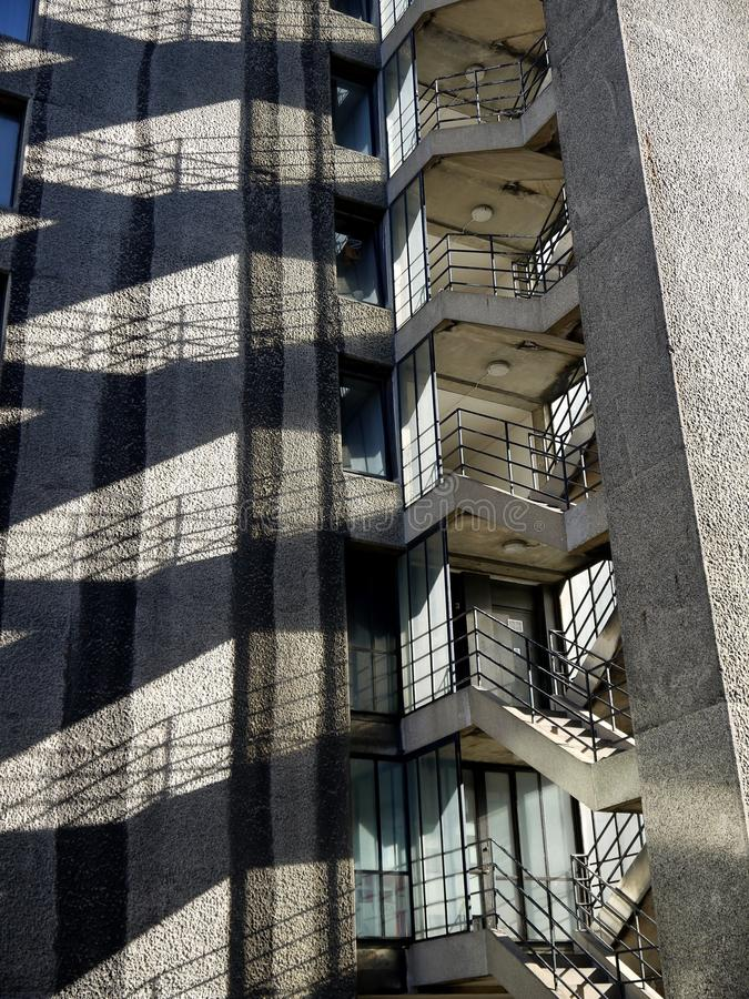 City: apartment block stairway stock photos