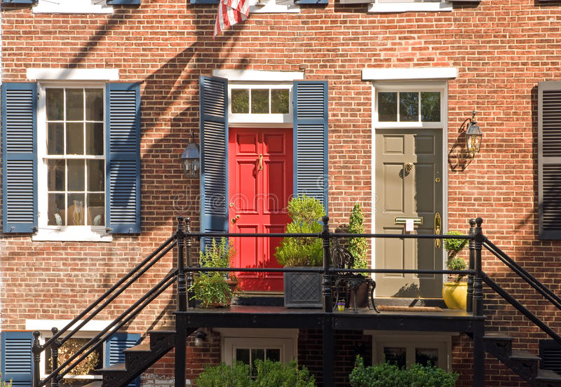 City apartment building stock photos