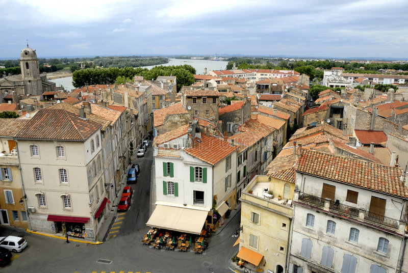 The city of Arles in France royalty free stock photo