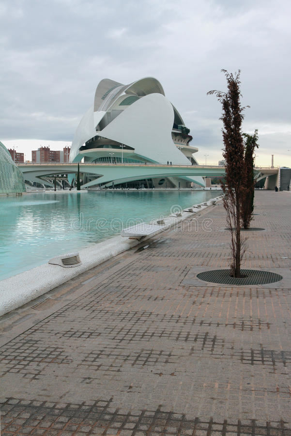 `City of art and science`, Palace of arts of queen Sofia. Valencia, Spain royalty free stock photos