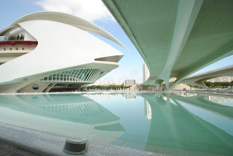 City of Arts and Science in Valencia, Spain royalty free stock images