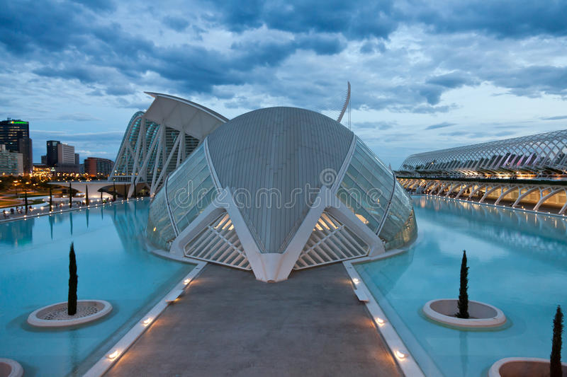 The City of Arts and Sciences stock photos