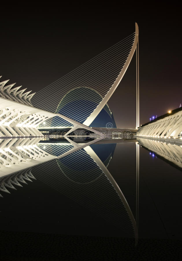 Download City Of Arts And Sciences - Agora Vertical View Editorial Image - Image of bridge, cables: 24074585