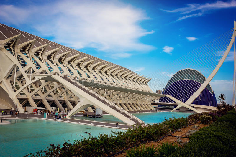 Download City Of Arts And Sciences In Valencia Editorial Photo - Image of future, pool: 83723621