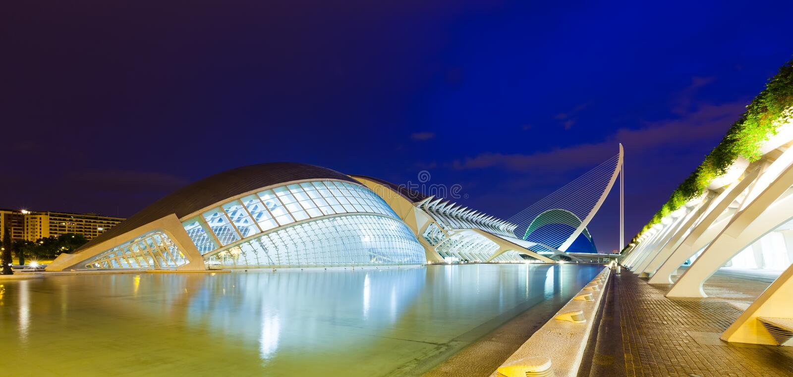 City of Arts and Sciences in Valencia, Spain royalty free stock images