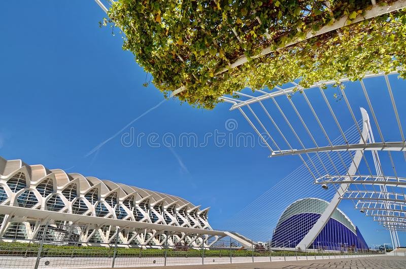 Valencia, Spain. City of Arts and Sciences in Valencia, Spain stock images