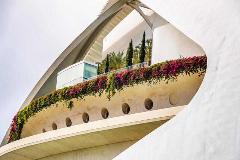 The City of Arts and Sciences in Valencia, Spain. Cultural and Architectural Complex in Valencia, Spain designed by Calatrava stock image