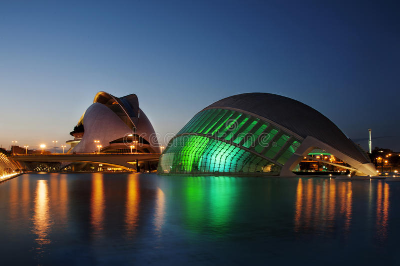 City of Arts and Sciences in Valencia - Spain royalty free stock photos